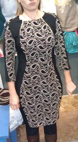 Нажмите на изображение для увеличения Название: Коричнево-черное платье с узором.jpg Просмотров: 255 Размер:99.3 Кб ID:617