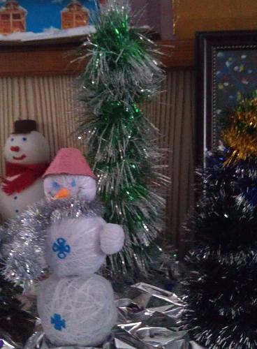 Нажмите на изображение для увеличения Название: Снеговик и елка на НГ.jpg Просмотров: 163 Размер:88.5 Кб ID:1041